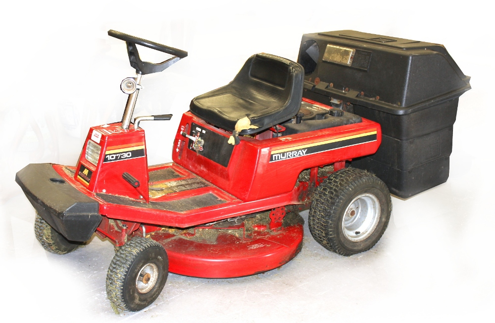 Property of a deceased estate - a Murray 10hp/30 ride-on lawnmower with grass collection boxes (