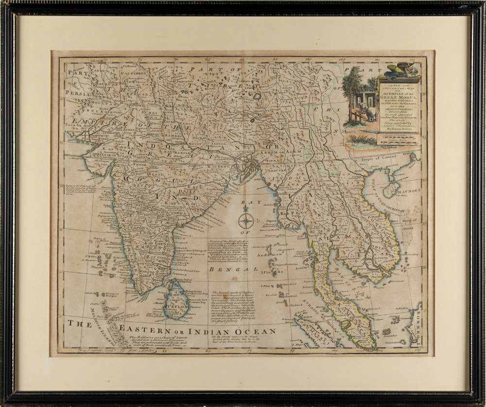 Property of a gentleman - BOWEN, Emanuel - 'A New and Accurate Map of the Empire of the Great Mogul'