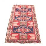 An Ardebil woollen hand-made runner with geometric design, 126 by 57ins. (320 by 145cms.) (see