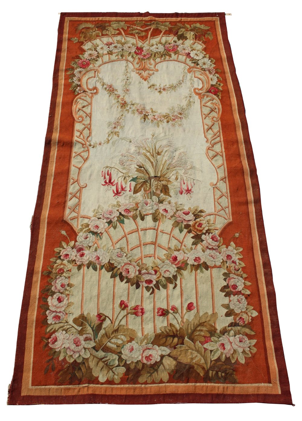 Property of a gentleman - a late 19th century needlepoint wall hanging, in the manner of Aubusson,