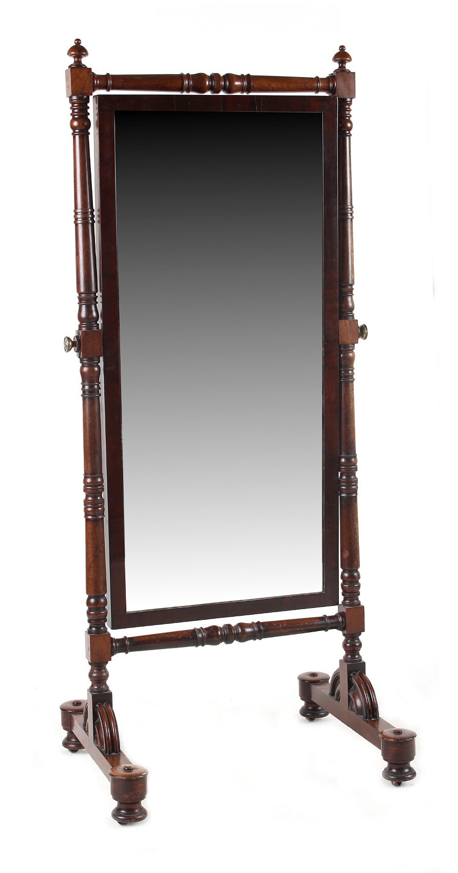 Lot 163 - Property of a lady of title - an early 19th century George IV / William IV mahogany cheval mirror,