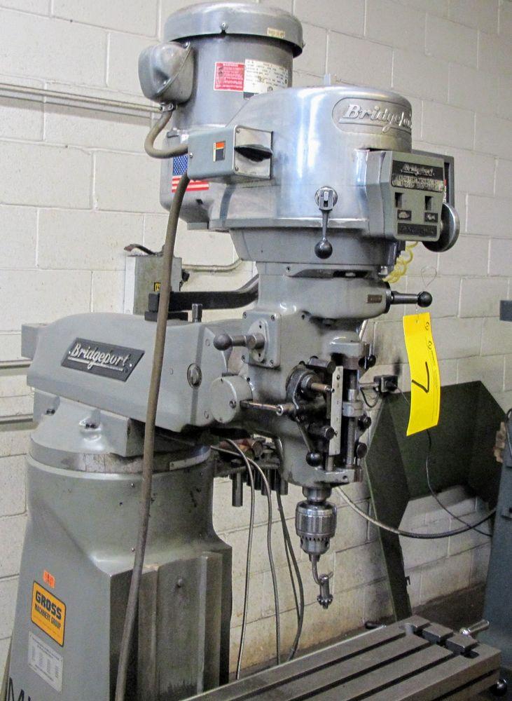 """BRIDGEPORT 2HP VERTICAL MILLING MACHINE, S/N 293877, 9"""" X 42"""" TABLE, D60-2V DRO, 575V, COLLET SET - Image 5 of 5"""