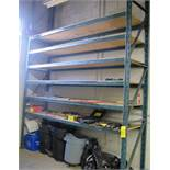 """1 SECTION OF RACKING, 30""""D X 12'W X 16'T W/WOOD SHELVES (NO CONTENTS)"""