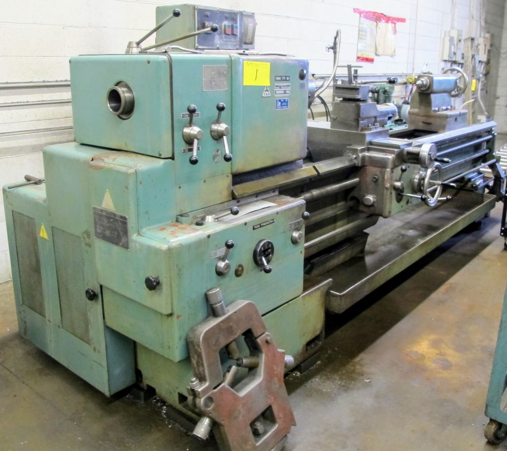 "TOS TRENCIN SN71B LATHE, 28"" SWING, 7' BED, 3 JAW CHUCK, TAIL STOCK, STEADY REST, QUICK CHANGE - Image 2 of 10"