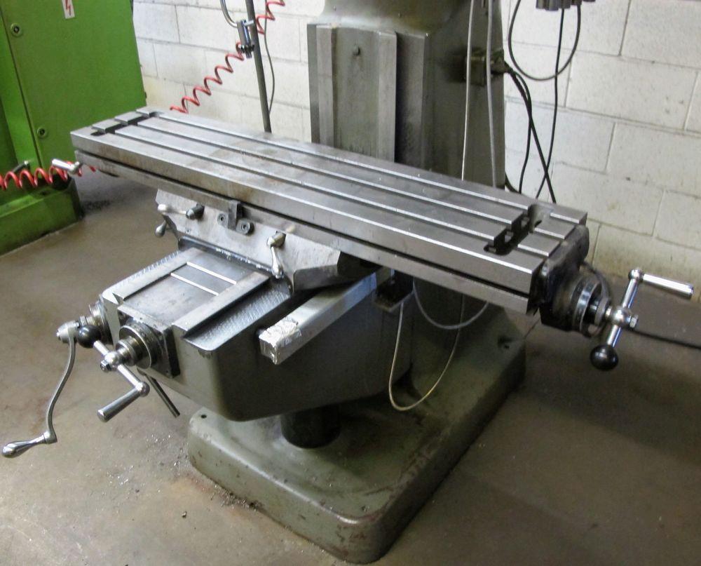 """BRIDGEPORT 2HP VERTICAL MILLING MACHINE, S/N 293877, 9"""" X 42"""" TABLE, D60-2V DRO, 575V, COLLET SET - Image 4 of 5"""