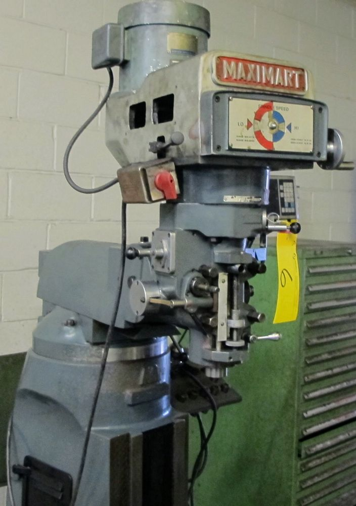MAXIMART 1-1/2 VS VERTICAL MILLING MACHINE, 455-4300 RPM, S/N 95388, FAGOR 2 AXIS DRO, COLLET SET - Image 5 of 7