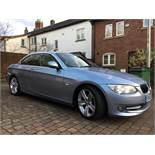 2010/60 REG BMW 320D SE AUTO 181 2.0 DIESEL BLUE CONVERTIBLE, SHOWING 3 FORMER KEEPERS *NO VAT*