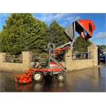 KUBOTA F3560 OUTFRONT RIDE ON LAWN MOWER, RUNS, DRIVES AND CUTS, HIGH TIP COLLECTOR *PLUS VAT*