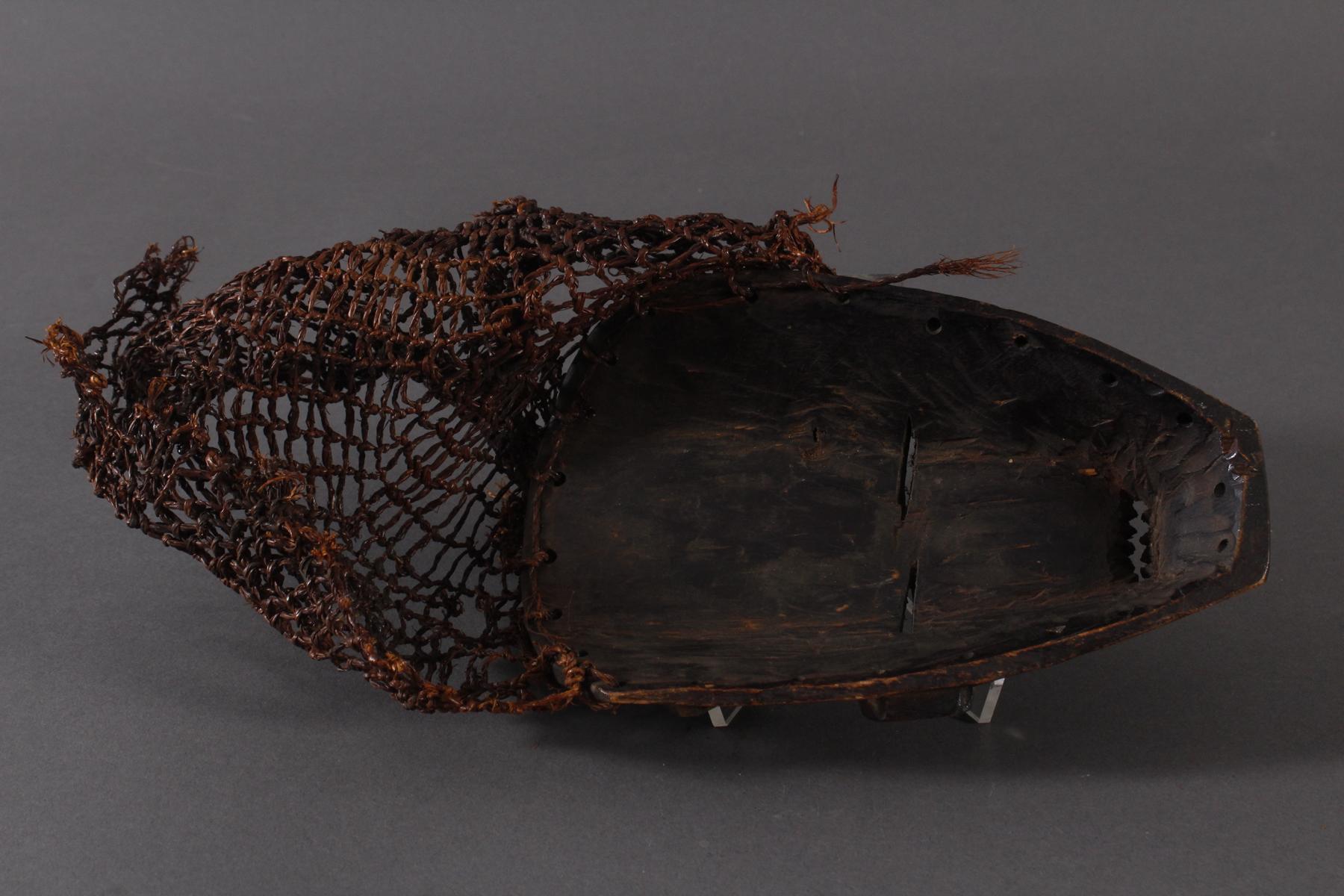 Antike Maske, Chokwe, Kongo 1.Hälfte 20. Jh.Holz geschnitzt, dunkle Patina, Narbenschmuck, - Bild 4 aus 4