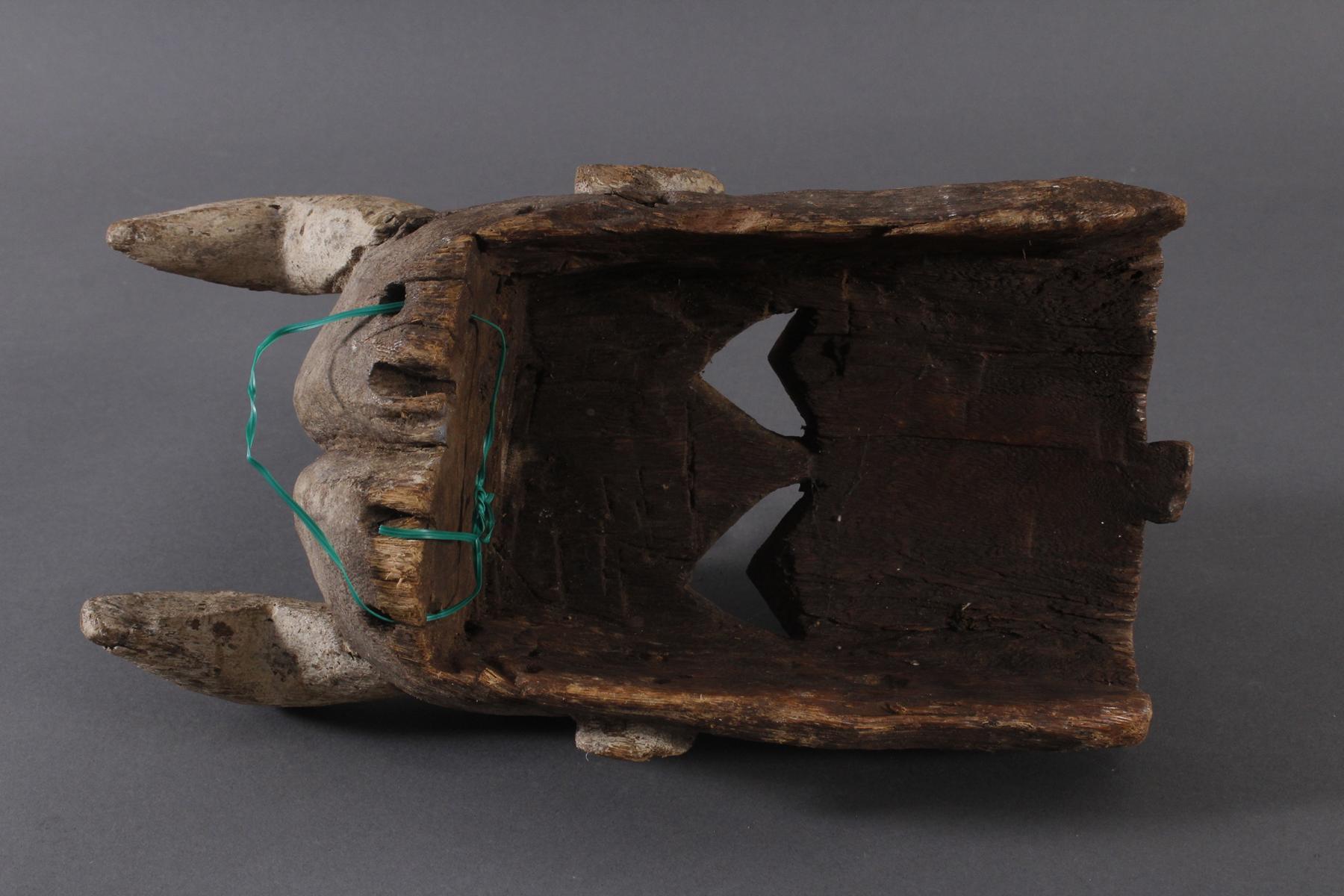 Antike Maske, Mossi, Burkina Faso 1. Hälfte 20. Jh.Holz geschnitzt, Reste von weißer - Bild 6 aus 6