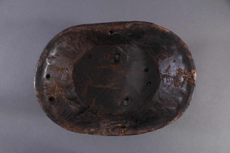 Antike Maske, Zaire/Kongo 1. Hälfte 20. Jh.Holz geschnitzt, dunköe Patina . Gesicht mit linearen - Bild 6 aus 6