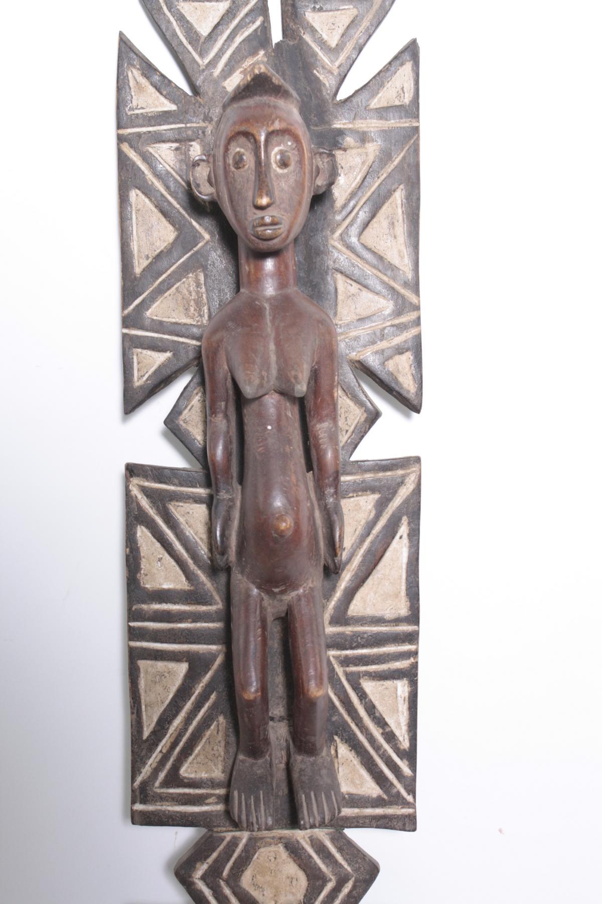 Aufsatz-Tanzmaske, Mossi, Burkina Faso, 1. Hälfte 20. Jh.Holz, geschnitzt. Flach reliefiertes - Bild 2 aus 6