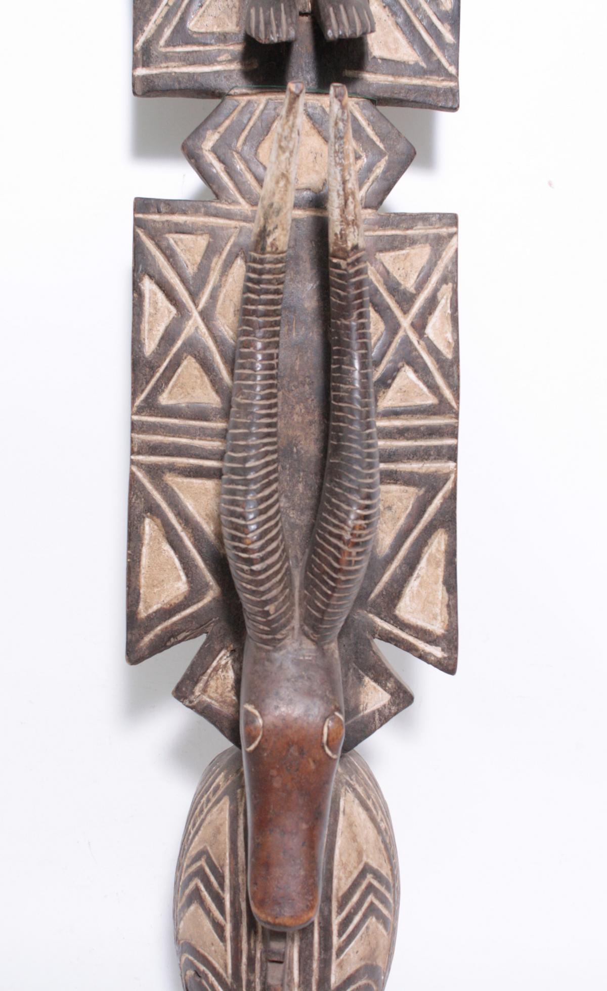 Aufsatz-Tanzmaske, Mossi, Burkina Faso, 1. Hälfte 20. Jh.Holz, geschnitzt. Flach reliefiertes - Bild 3 aus 6