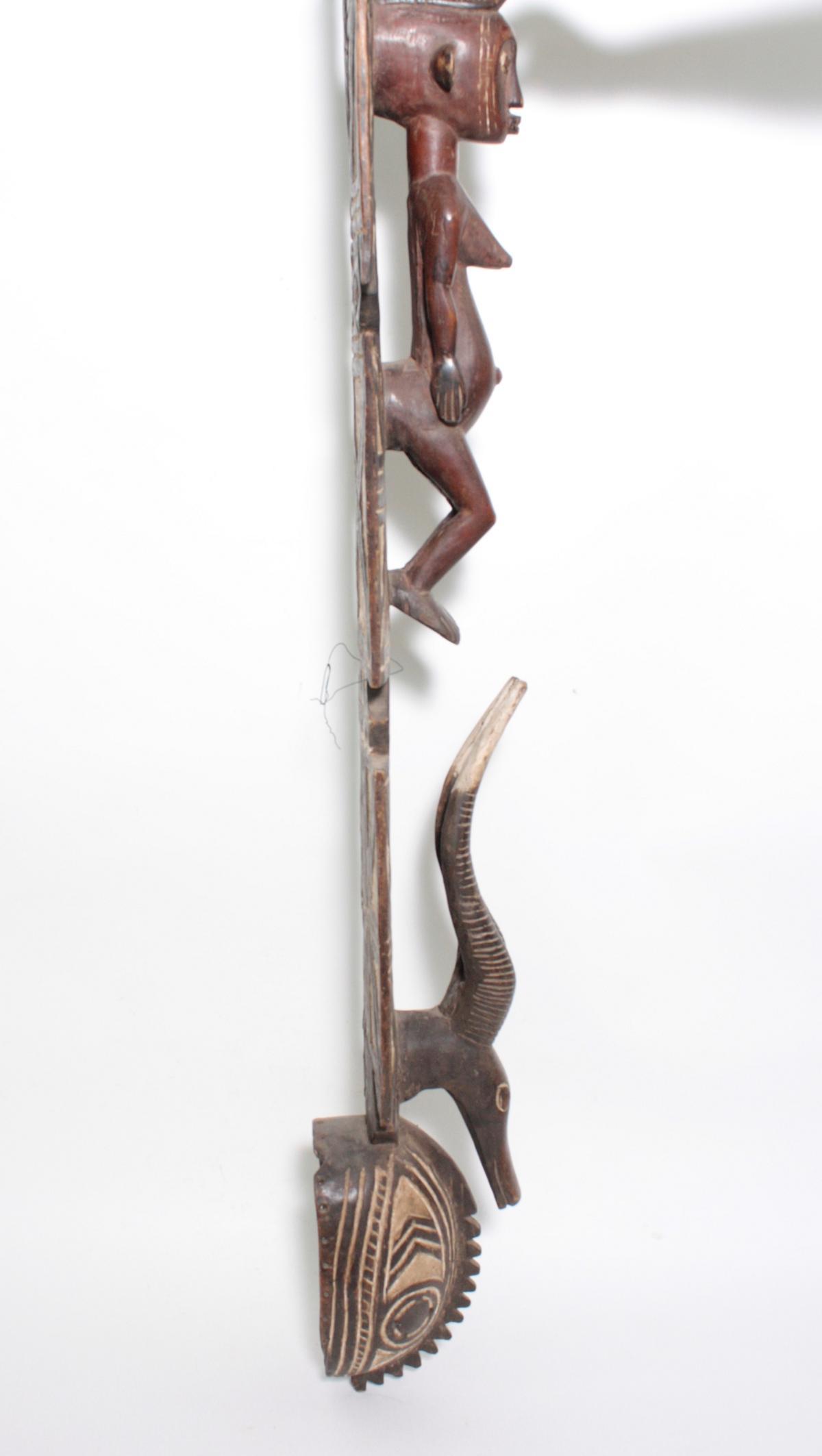Aufsatz-Tanzmaske, Mossi, Burkina Faso, 1. Hälfte 20. Jh.Holz, geschnitzt. Flach reliefiertes - Bild 4 aus 6