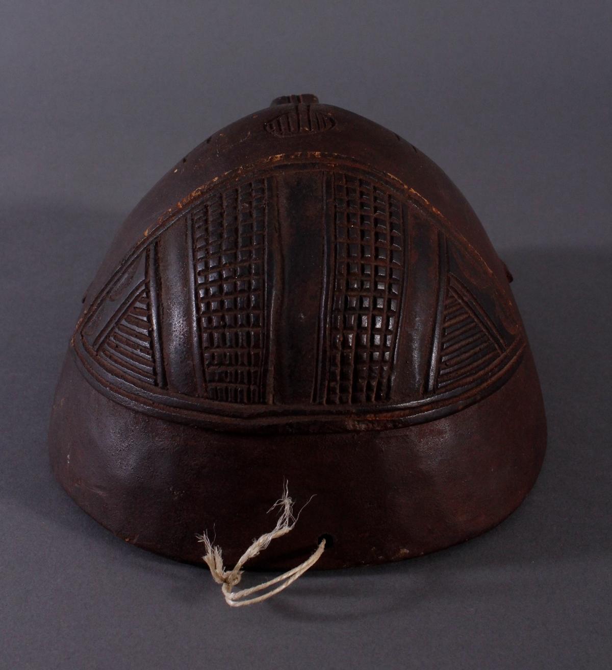 Antike Maske, Mbunda, Sambia 1. Hälfte 20. Jh.Holz geschnitzt, braune Patina, ovale Form, - Bild 5 aus 6
