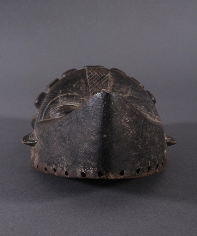 Antike Maske, Bassa, Liberia 20. Jh.Holz geschnitzt, dunkle Patina,ovales Gesichtsfeld mit spitz - Bild 3 aus 6