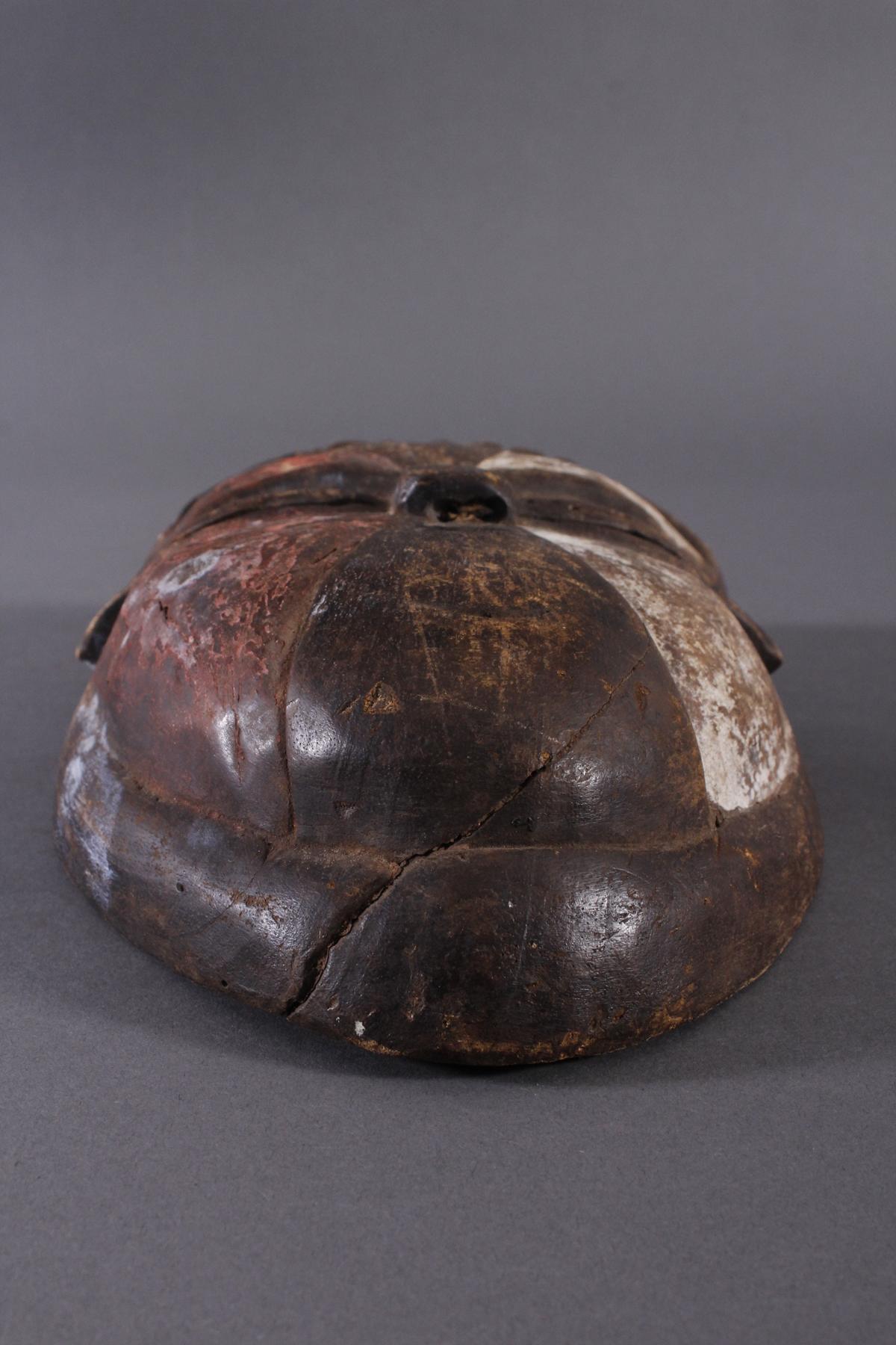 Antike Afrikanische Maske, 1. Hälfte 20. Jh.Holz geschnitzt und farbig gefaßt, durchbrochene - Bild 2 aus 6
