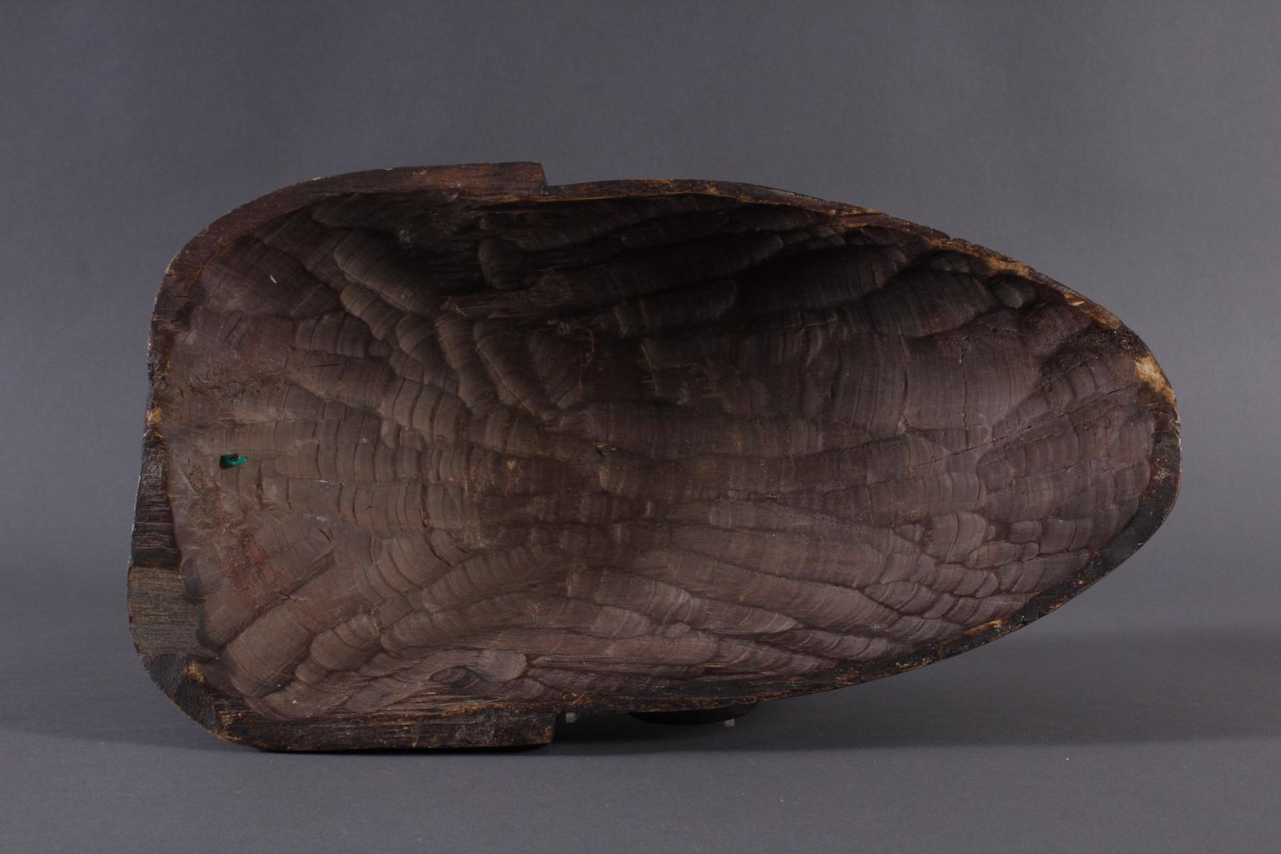 Antike Maske, Chokwe, Angola 1. Hälfte 20. Jh.Holz geschnitzt, dunkle Patina, Narbentatauierung, ca. - Bild 7 aus 7