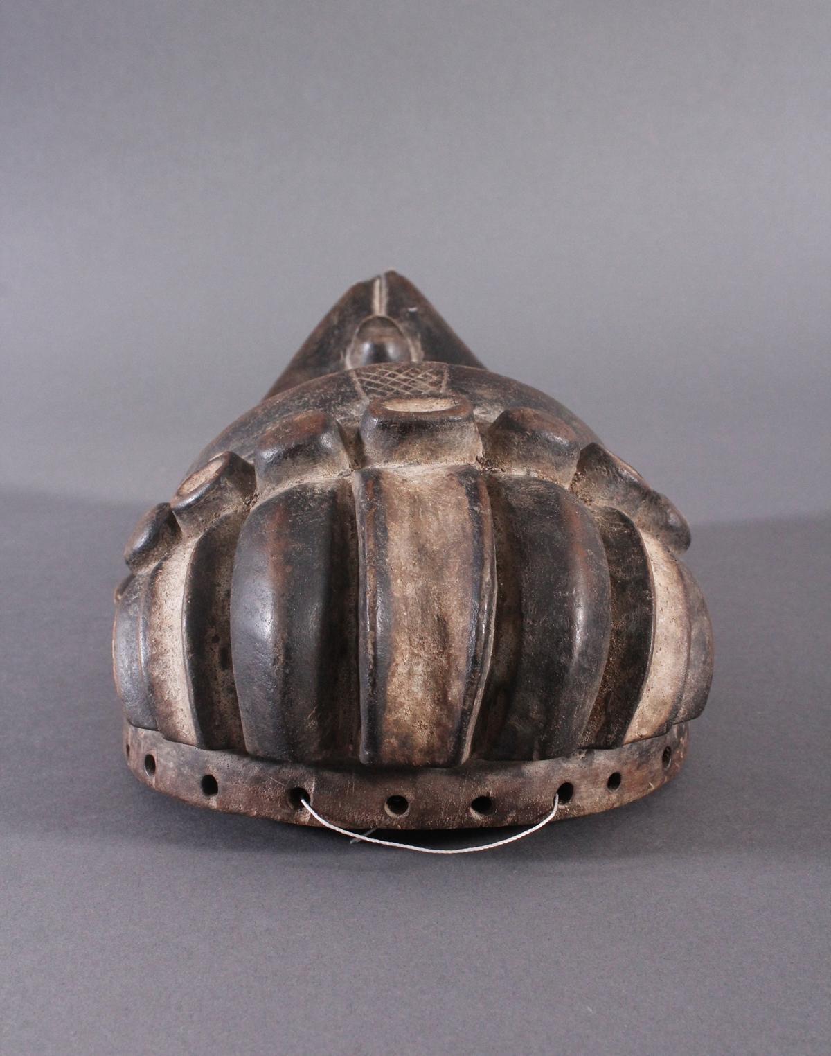 Antike Maske, Bassa, Liberia 20. Jh.Holz geschnitzt, dunkle Patina,ovales Gesichtsfeld mit spitz - Bild 5 aus 6