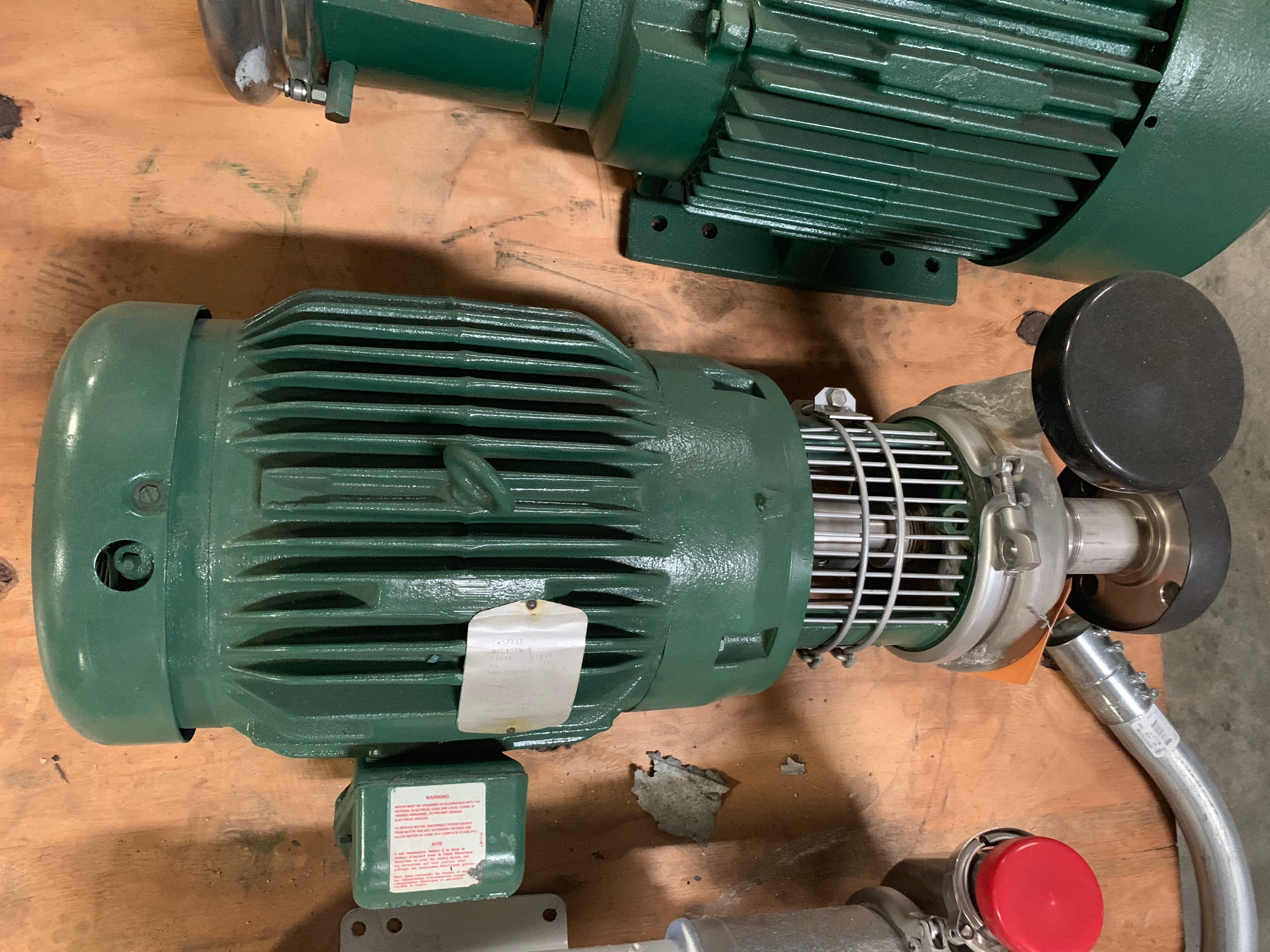 Lot 4 - TRI CLOVER 15HP CENTRIFUGAL PUMPModel 216SD21TT-SSN 164338-022in inlet 1.5in outlet