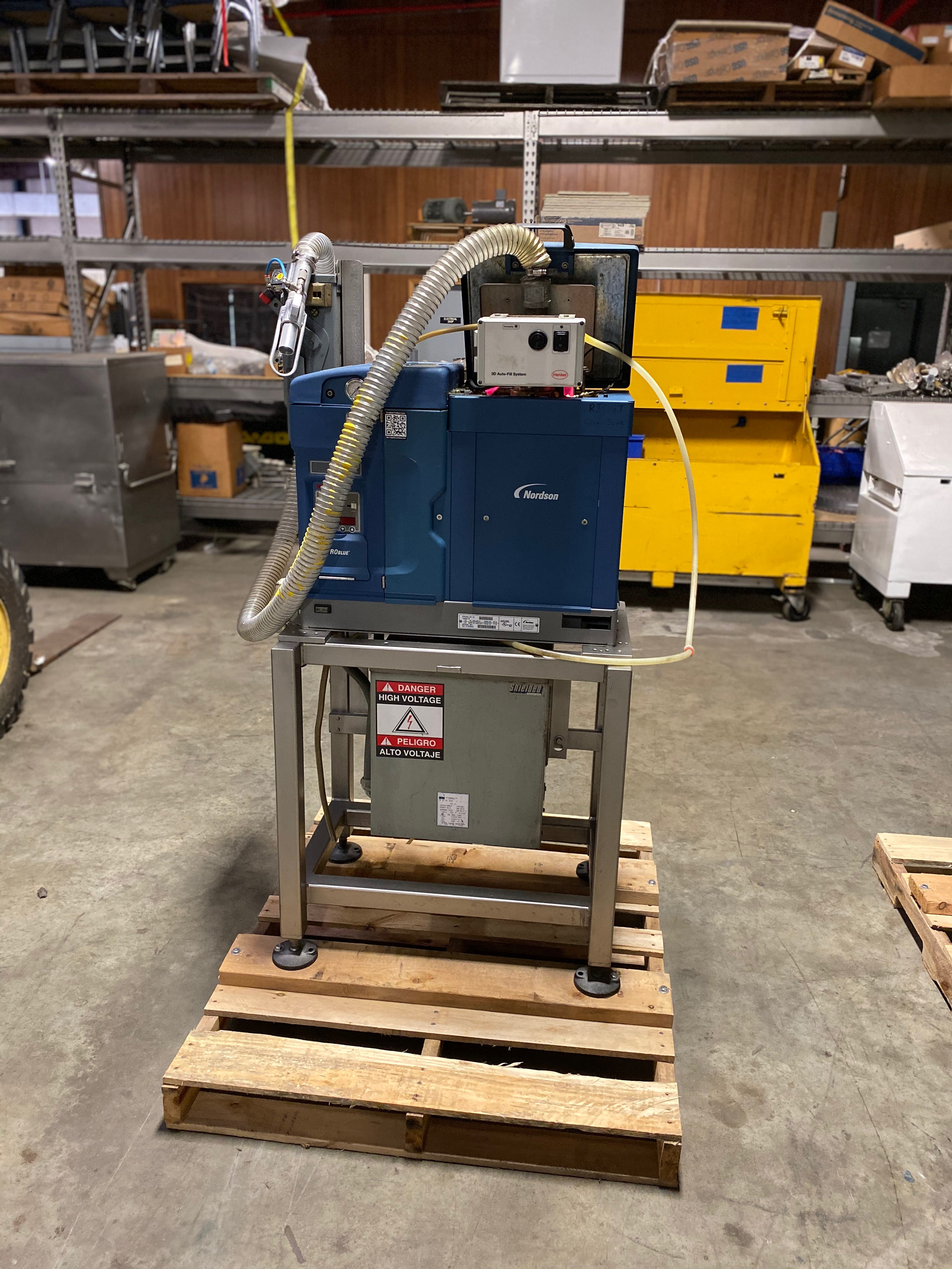 Lot 23 - Nordson Pro Blue 15 Glue Unit with StandSerial Number SA13C54043