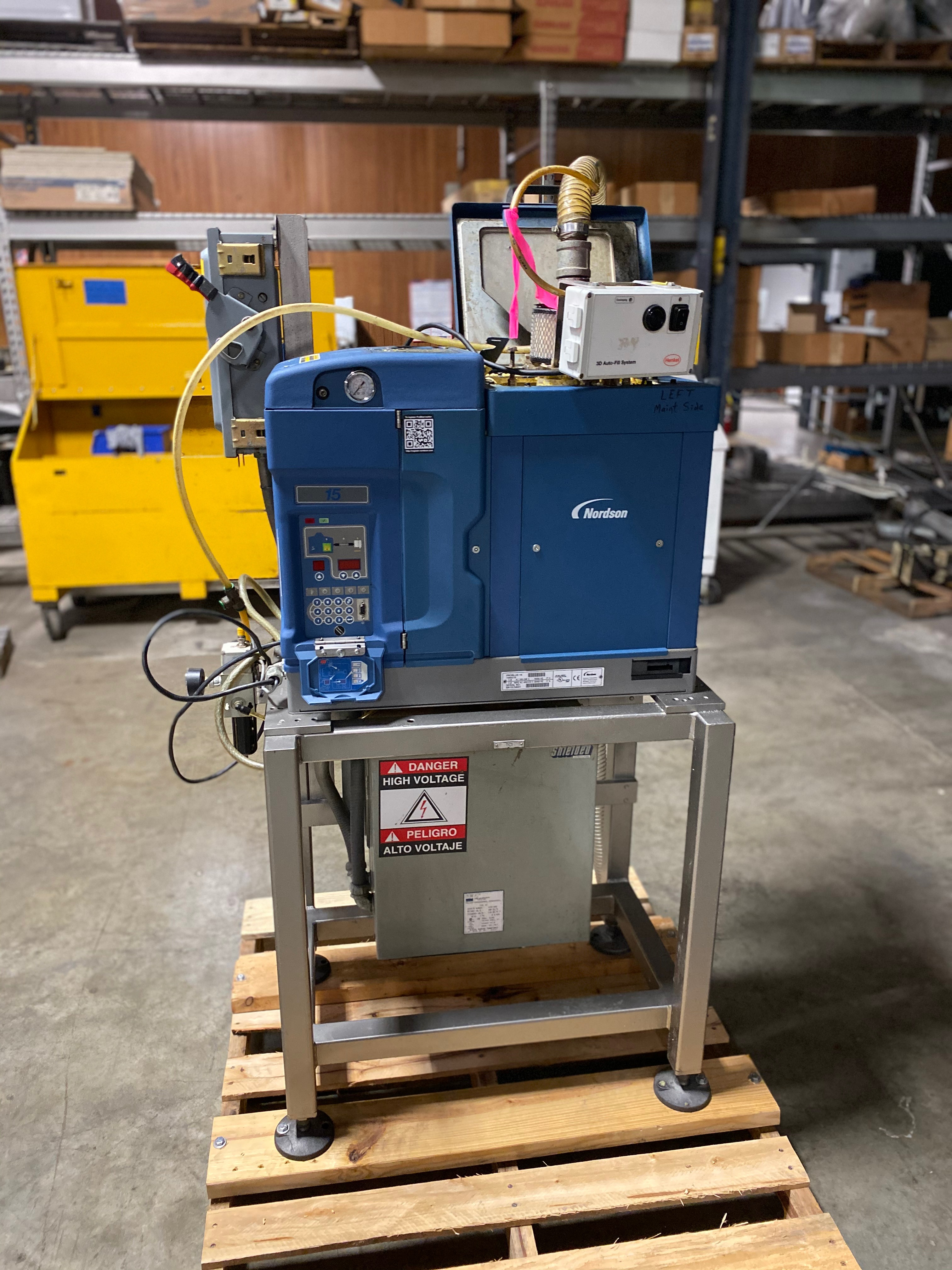 Lot 24 - Nordson Pro Blue 15 Glue Unit with StandSerial number SA13C54041