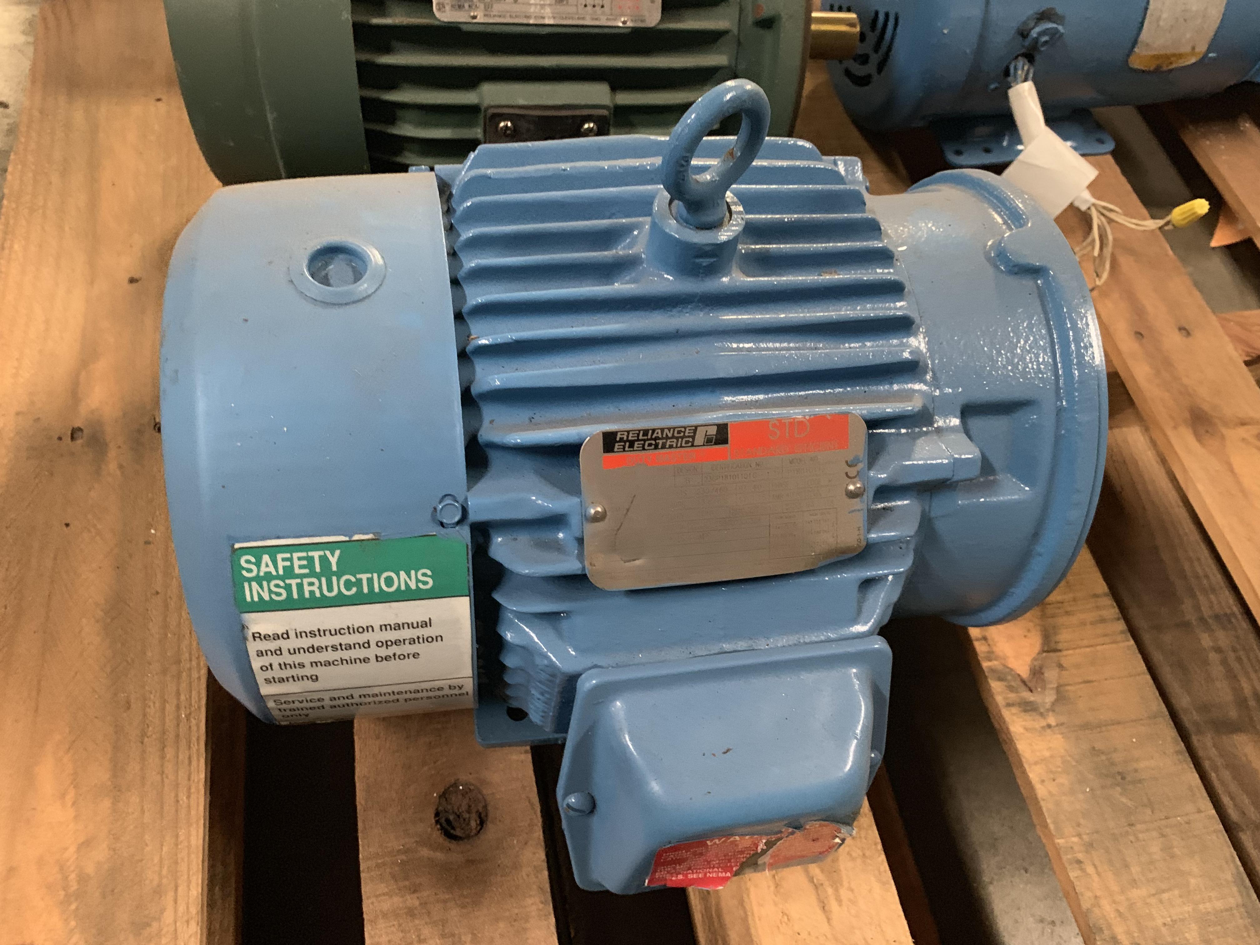 Lot 10 - RELIANCE ELECTRIC 5HP MOTORFrame 184TC3480