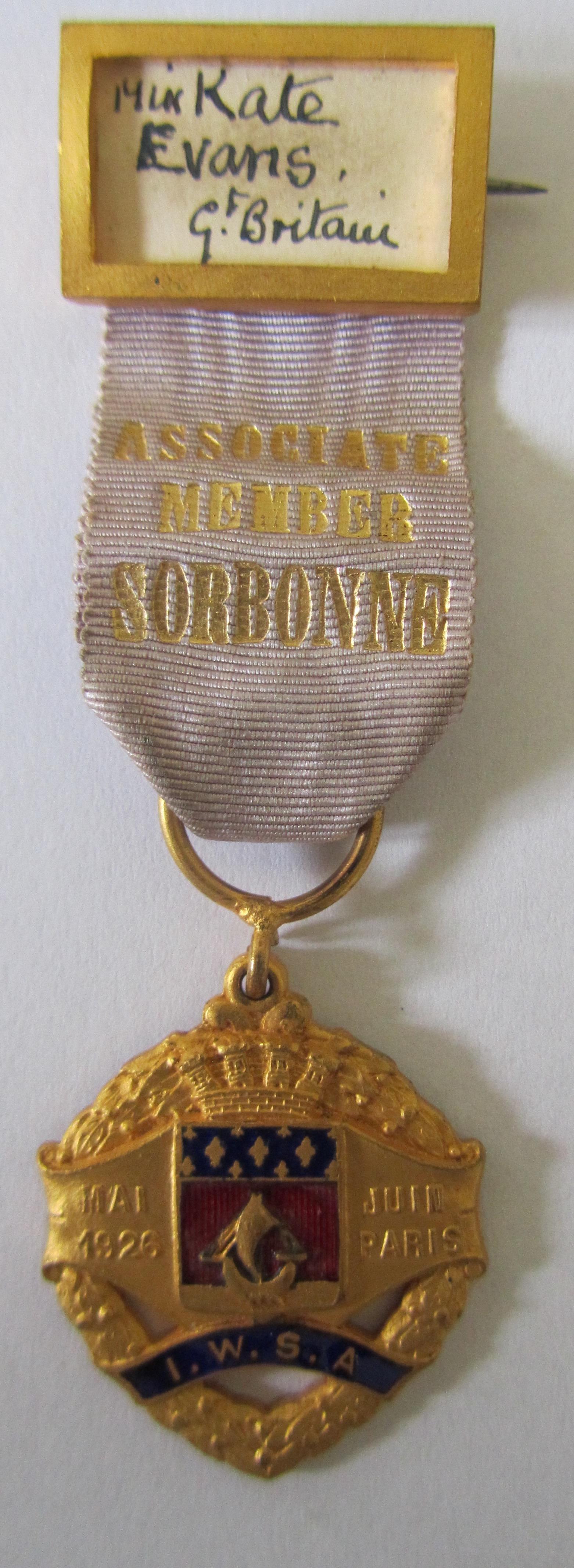 Lot 249 - A rare silver suffragette Hunger Strike medal & archive re Kate Evans