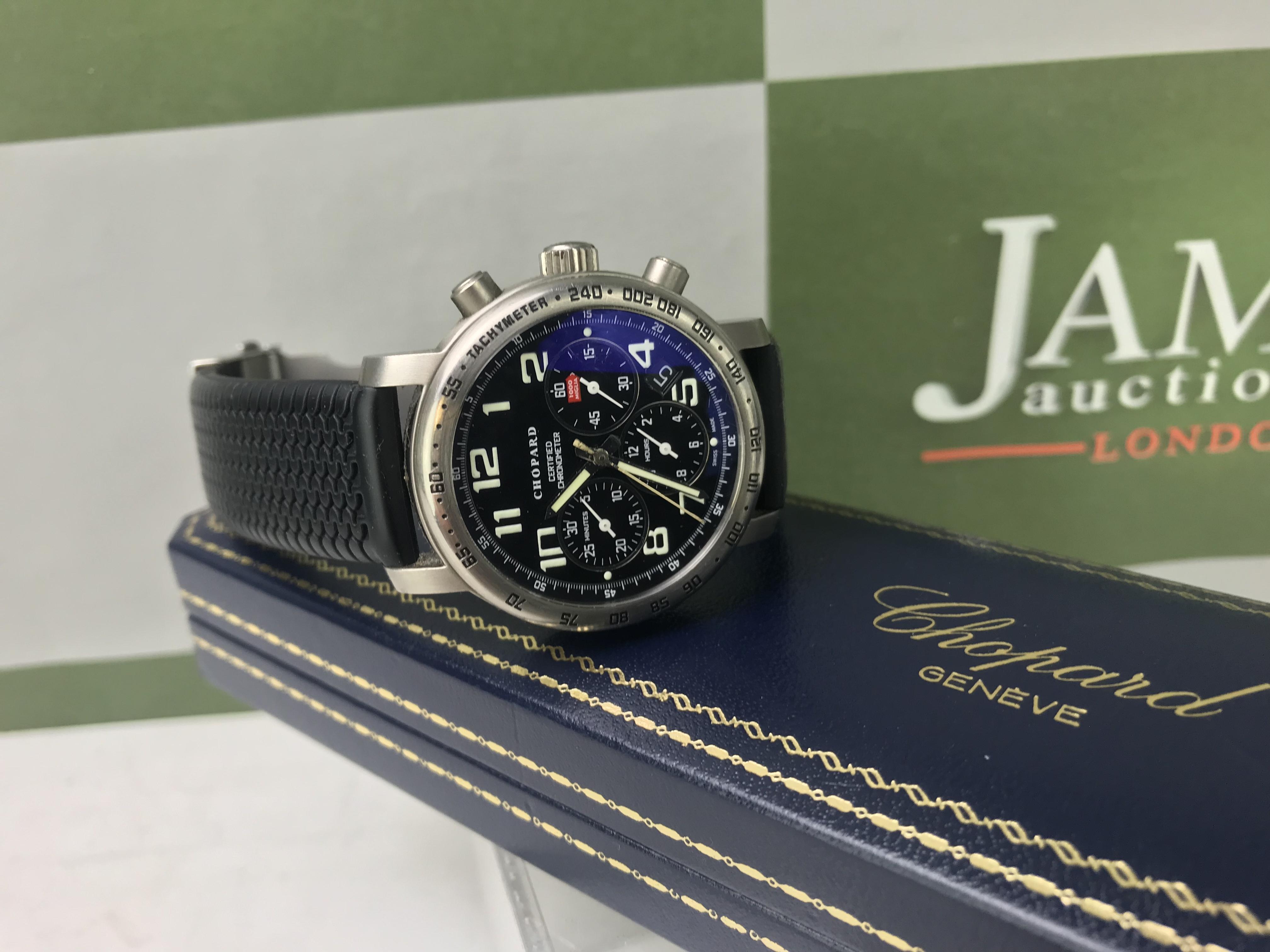 Lot 9 - Chopard Mille Miglia Titanium Chronograph Watch.
