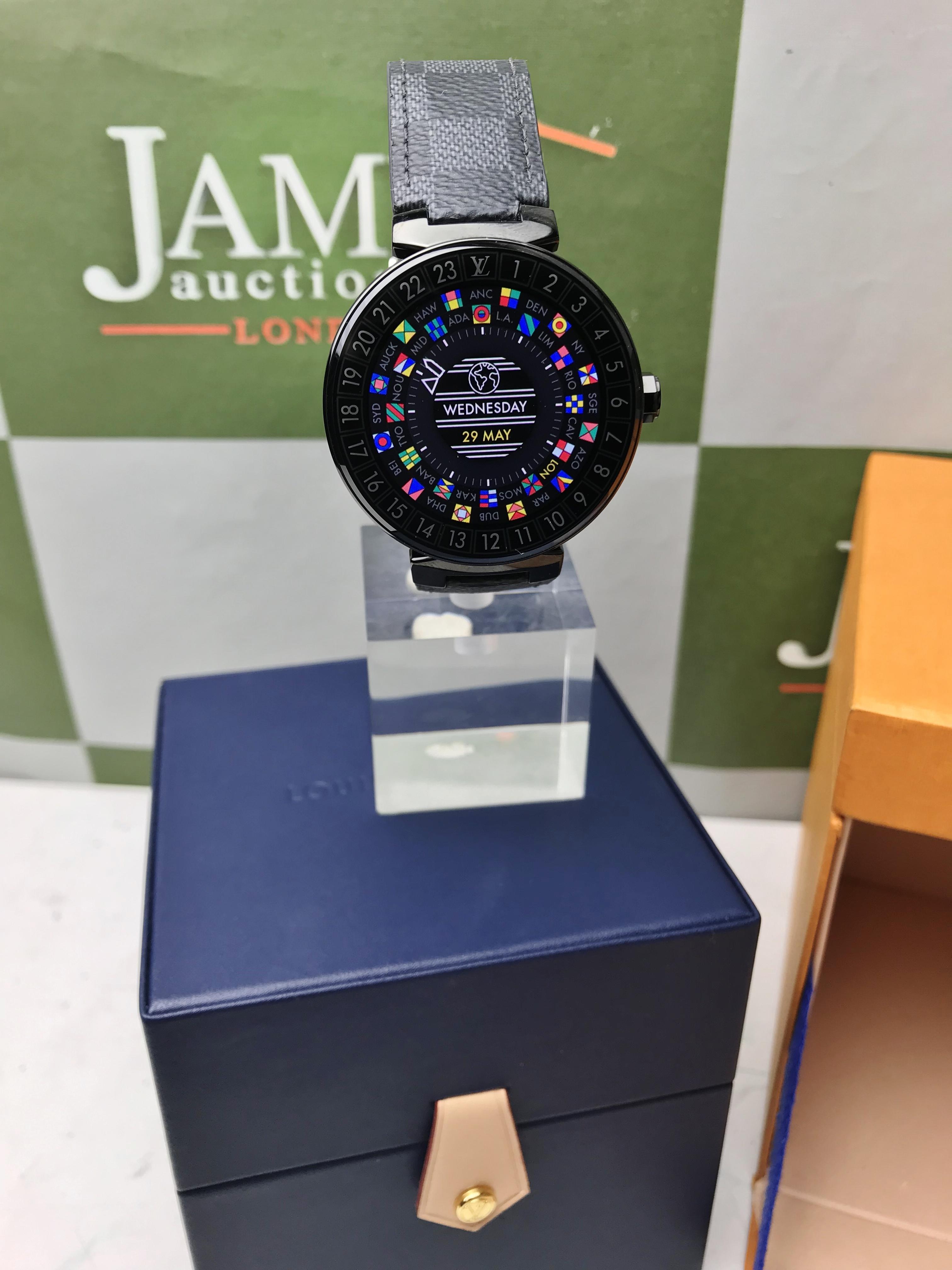 Lot 4 - Louis Vuitton Tambour Connected Smart Watch (QA002)