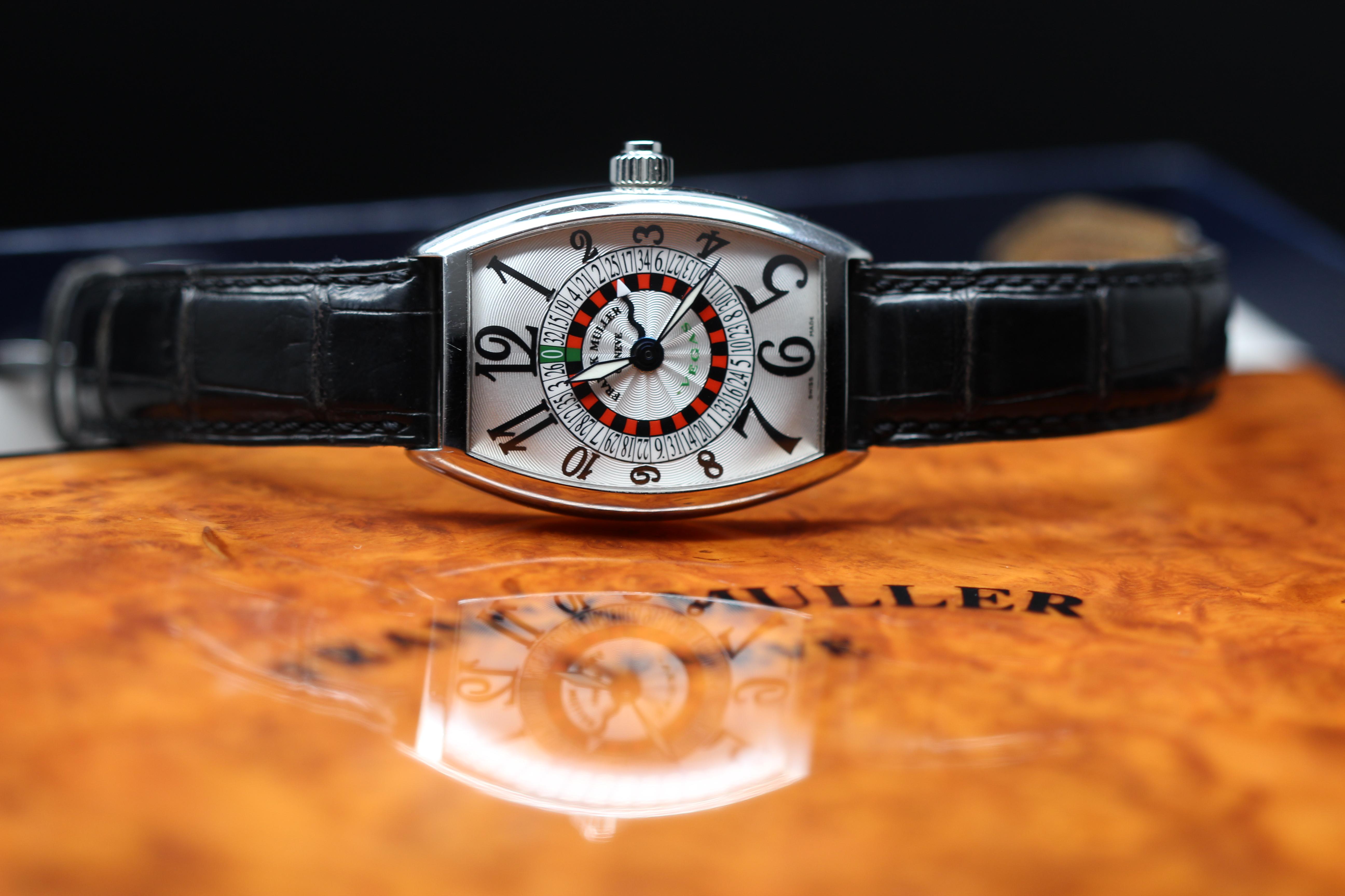 Lot 2 - Franck Muller Vegas Roulette stainless steel 5850