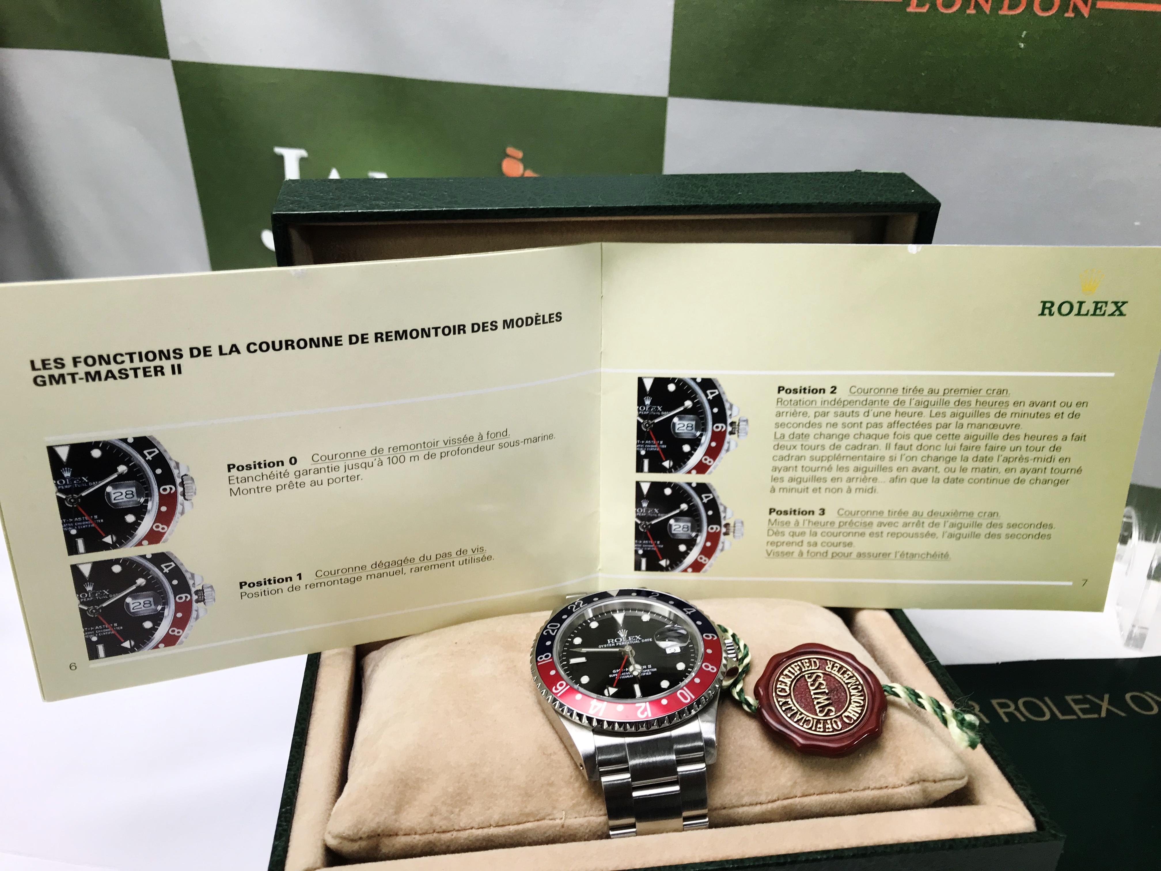Lot 1 - Rolex GMT-Master II Pepsi 16710