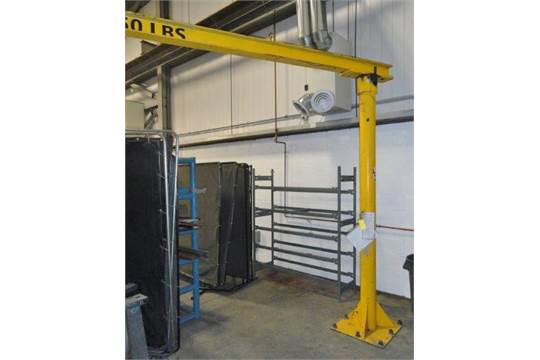 Jib Cranes Edmonton : Free standing jib crane no hoist located in edmonton