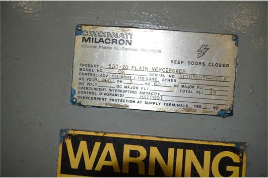 Astounding Cincinnati Milacron Mdl 530 20 Verci Power Horizontal Milling Wiring Digital Resources Attrlexorcompassionincorg