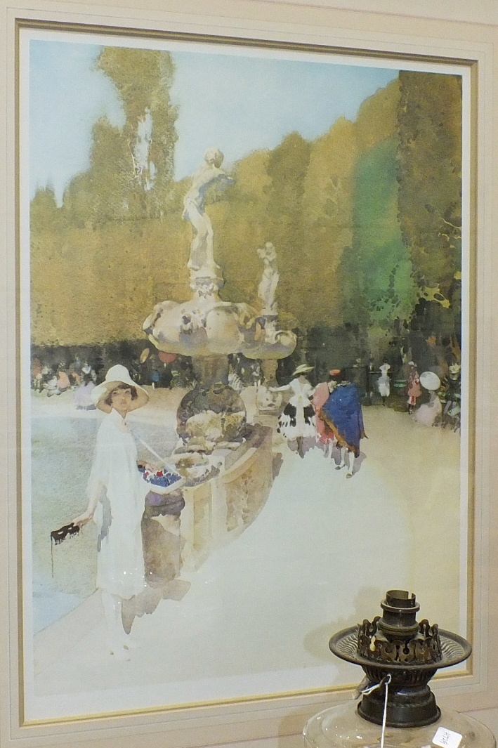 Lot 124 - After Sir William Russell Flint, 'A Florentine Masquerade', a limited edition coloured print, 70.5 x