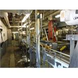 S.S. Table top Conveyor, 28ft x 4 1/2in belt x 45in tall no belt  Rigging Fee: $350