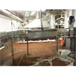 Table Top Conveyor, approx. 15ft long x 3 1/2in belt x 41in tall  Rigging Fee: $350