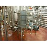 S.S. APV Plate Heat Exchanger, 16in x 16in x 35in, Type: SR25SL, S/N: 420251  Rigging Fee: $1500