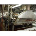 Tomato Prod. Pasteurizer tunnel, 90ft long x 9ft wide x 59in tall. Tunnel size: 90ft x 8ft x 12in w/