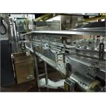 S.S. Table Top Conveyor w/ motor and hood  Rigging Fee: $150