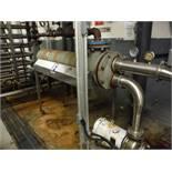 Tube Heat Exchanger 12in diameter x 60in long, w/ AMPCO pump, Model: A311-50-12575W3H, S/N: S-