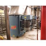 (2) Hartzell fans, w/ 40 HP TECO motor, (Ammonia Exhaust Fan)  Rigging Fee: $0