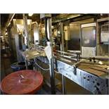 Arrowhead Conveyor Company, Table Top Conveyor, approx. 15ft l x 7 1/2in belt x 45in tall no belt