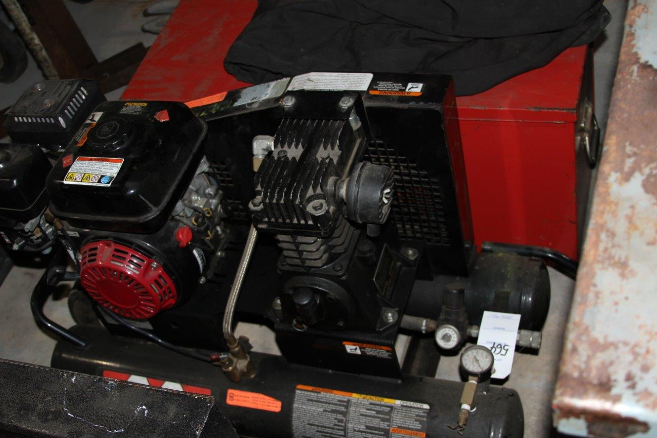 Lot 564 - MI-T-M model AM1-PH165-OHM Gas Powered Air Compressor