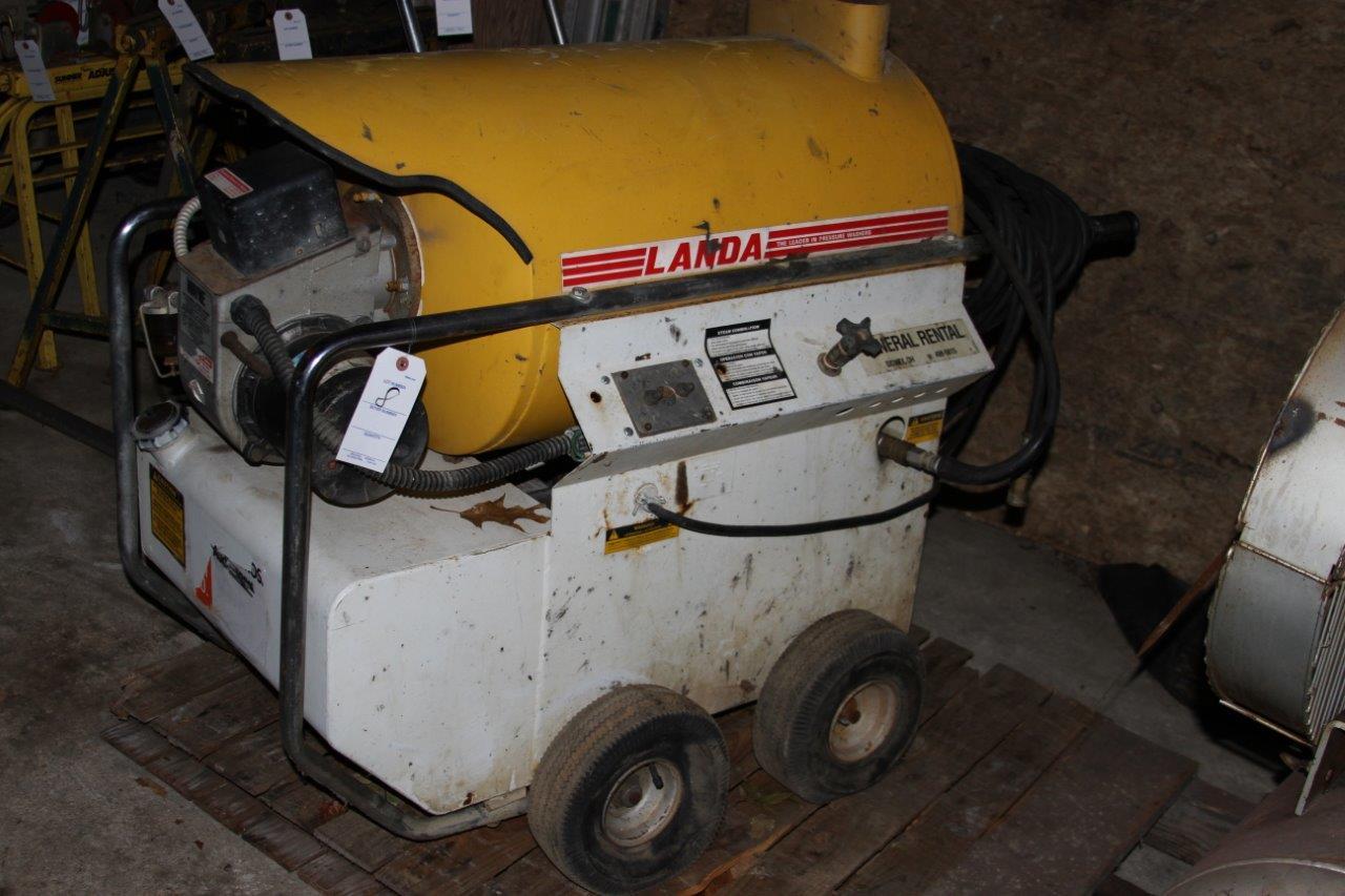 Lot 8 - Electric/ Diesel Heated Landa Pressure Washer P/N 2-11011D