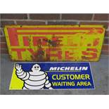 Pirelli Tyres and Michelin Metal Sign