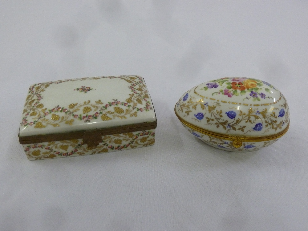 Two Atelier Le Tallec Covered Boxes White Ground With