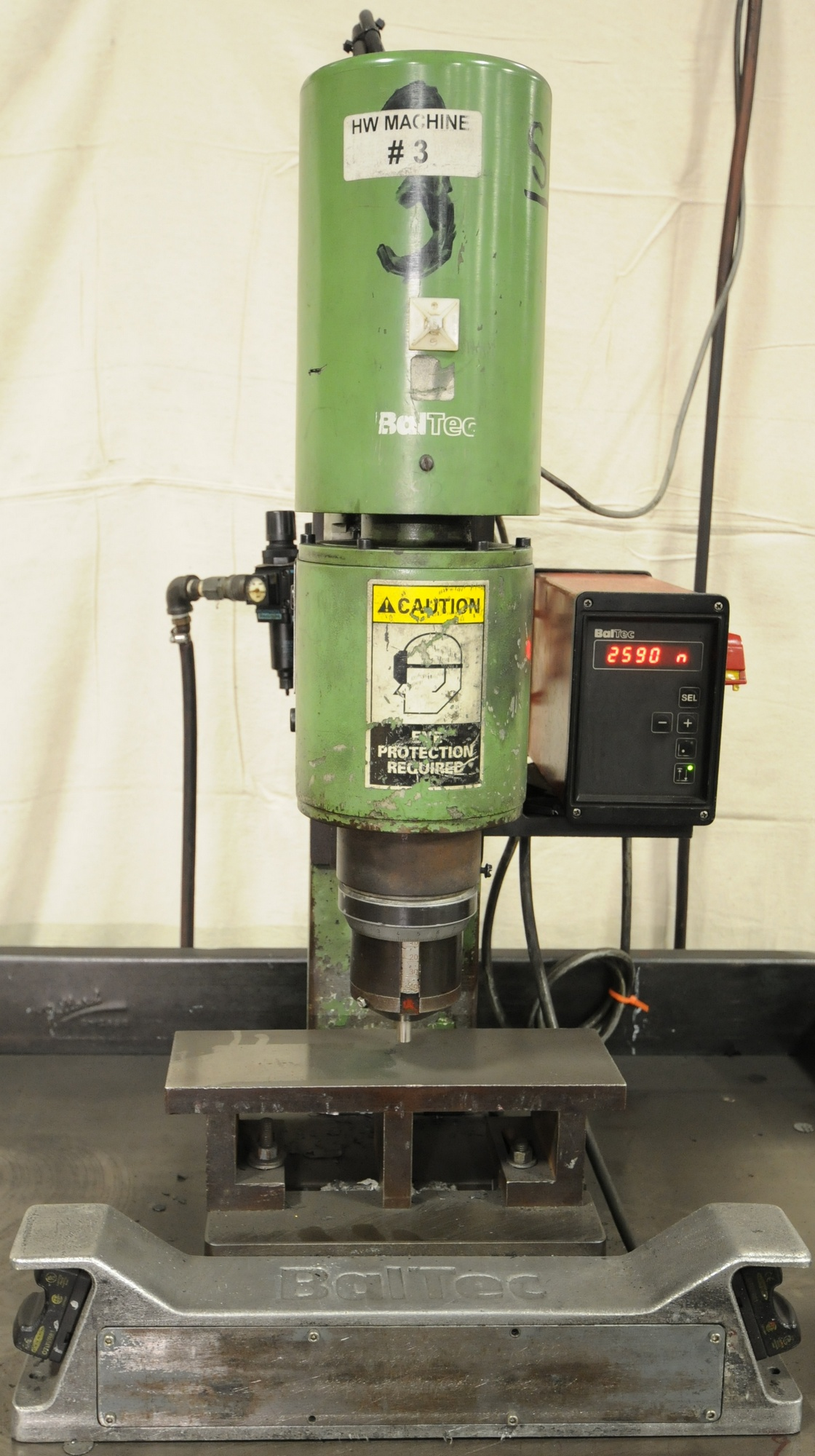 Lot 38 - BALTEC RN231 INSERTION PRESSES WITH BALTEC DIGITAL CONTROLS, 0.5 HP, 1650 RPM, S/N: 231.0153