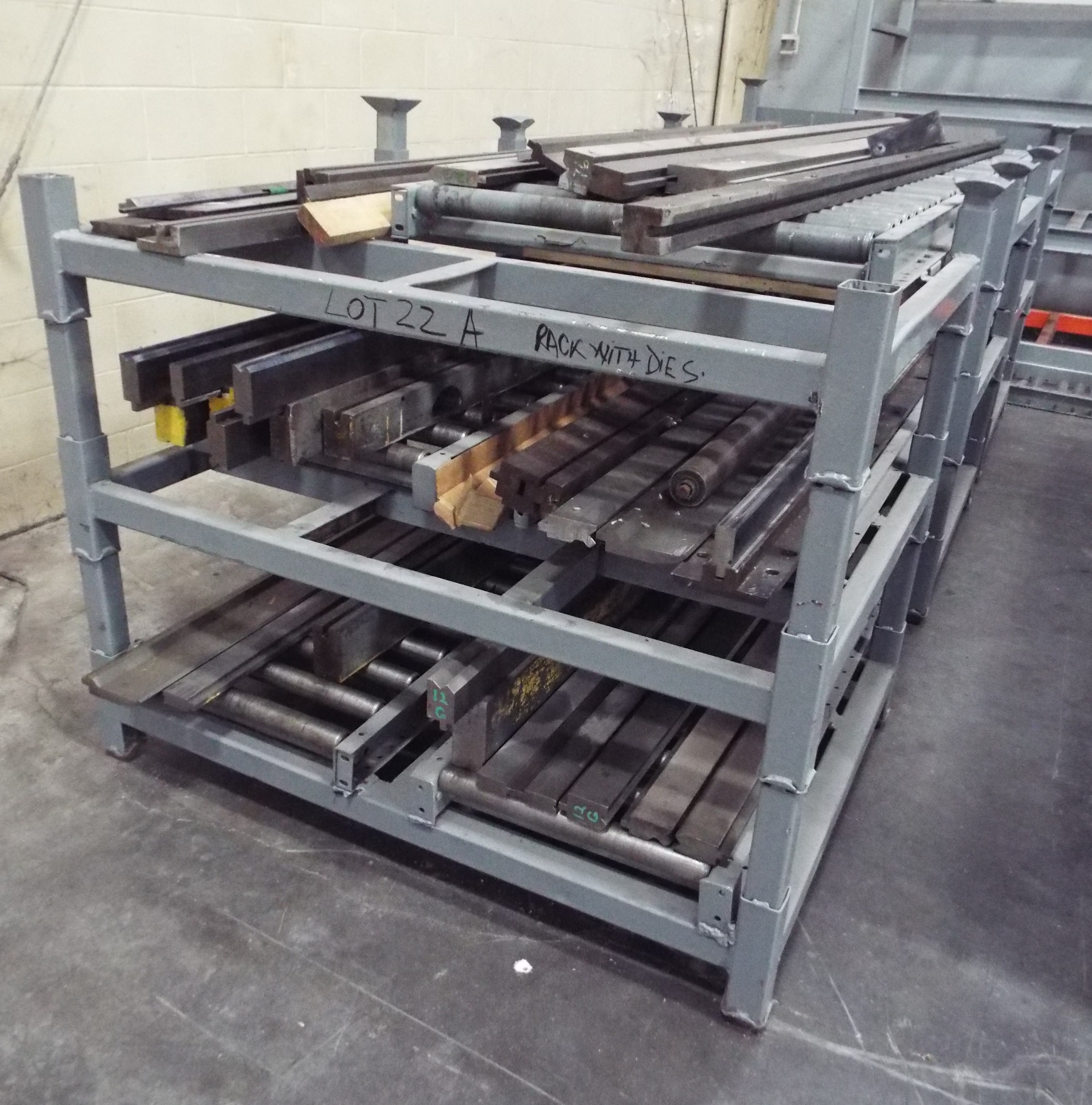 Lot 22A - RACK WITH DIES