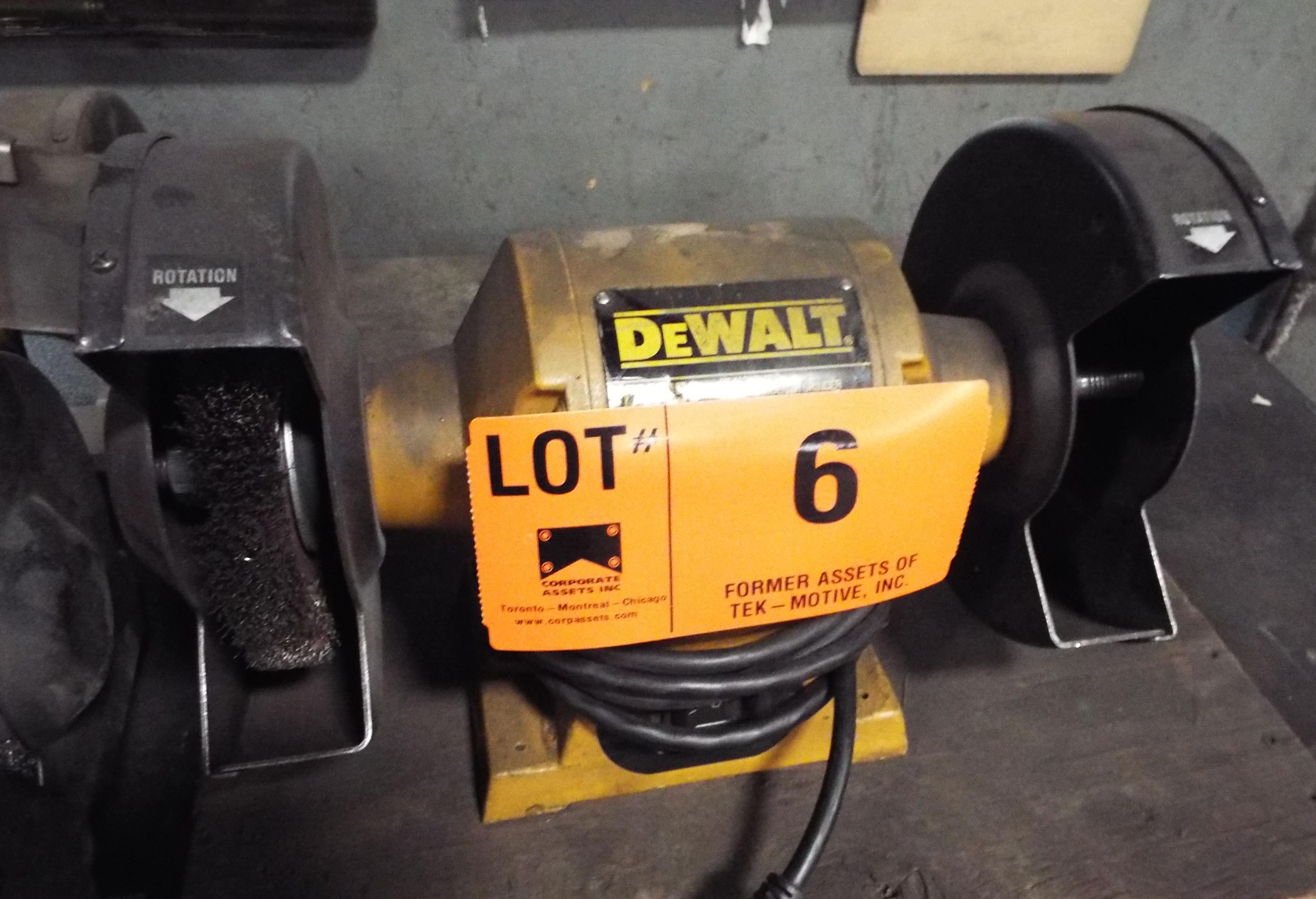 """DEWALT 8"""" DOUBLE END BENCH GRINDER"""